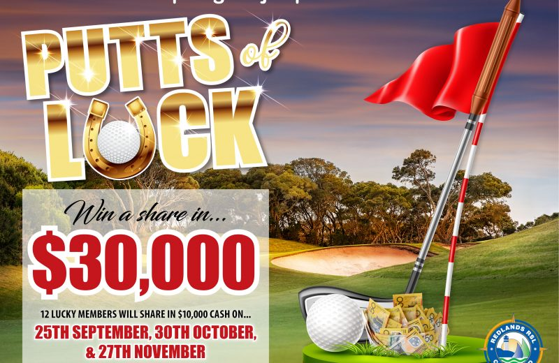 Major Promotion Draw September – Putts of Luck